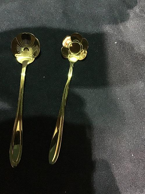 Mini flower spoons
