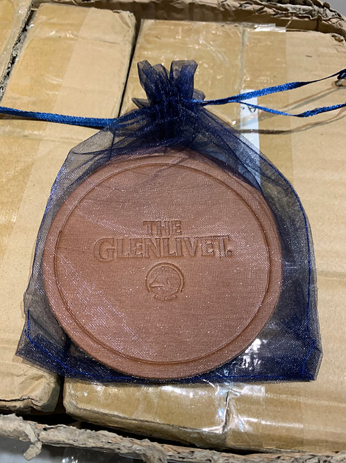 Leather coasters in mesh bag (4)