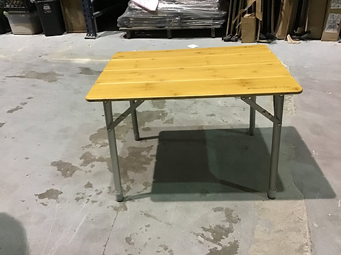 bamboo folding table w/case