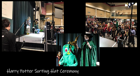 Harry Potter Sorting Hat Ceremony Collag