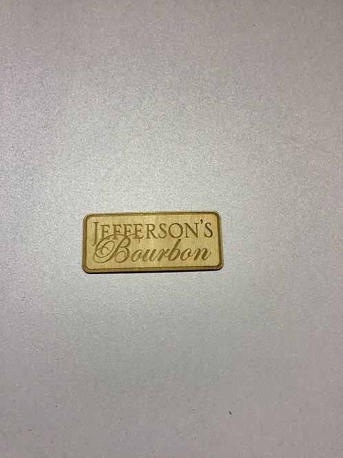 Jefferson wooden sticker