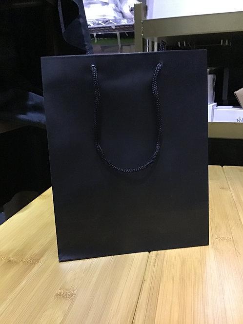 8x4x10 black gift bags matte