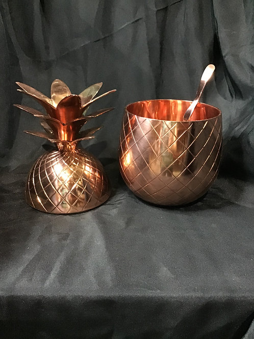 Copper pineapple punch bowl with ladle