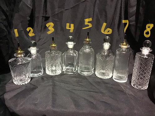 Glass bitters bottles