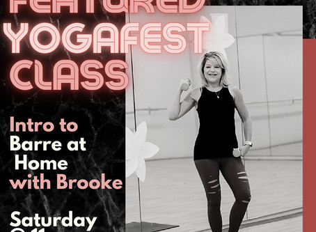 Featured YogaFest Class: Barre @ Home with Brooke!