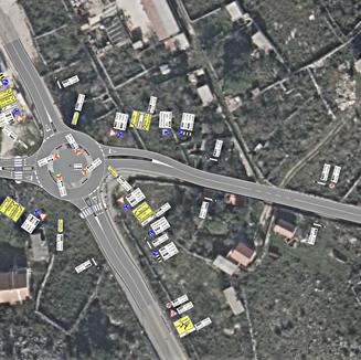 Kružno raskrižje ŽC5151, ŽC5210 i ulice Caskin put u Novalji