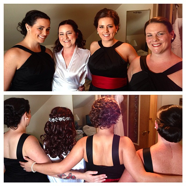 Instagram - Bridal party from today! @marietennant #hairbykiara #beautybykiara #