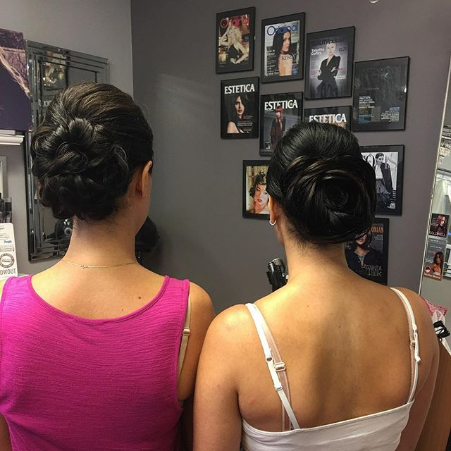Wedding updos today by Kiara! #wedding #bride #maidofhonor #kiaramooneyhmua #kmsobsession #wedding20