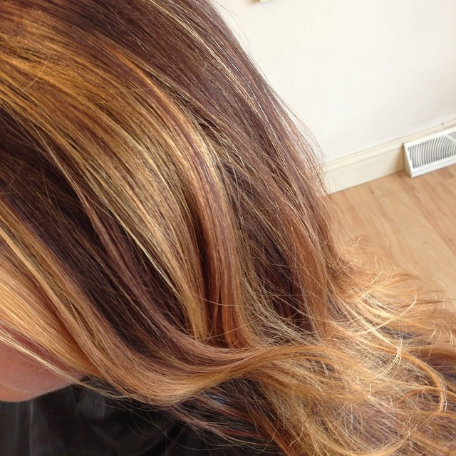 Instagram - Color with Goldwell silk lift & cut  #hbshootout @hairbrained_offici