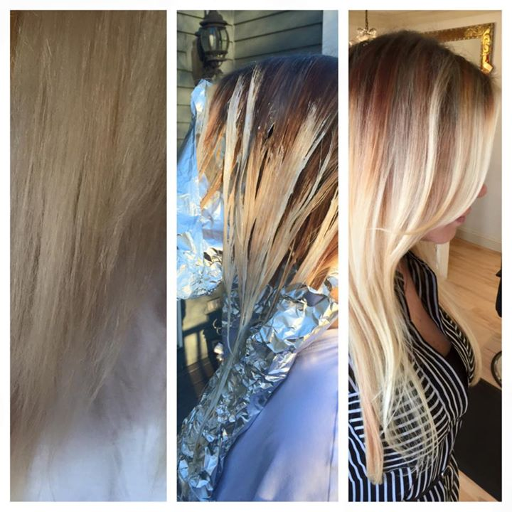 Facebook - New hair color by yours truly 😘 It looked like someone flicked color