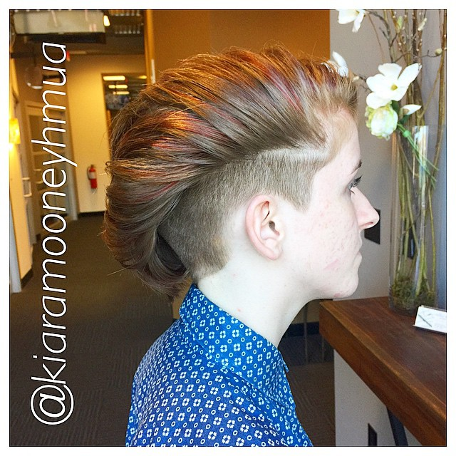 Instagram - PIC #2: Undercut on Miss Ali ✂️ colored with @goldwellkmsacademy sty