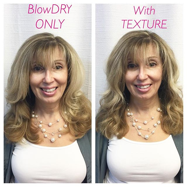 BlowDRY or texture with lots of love!!!! Thanks Judi for being such a wonderful model