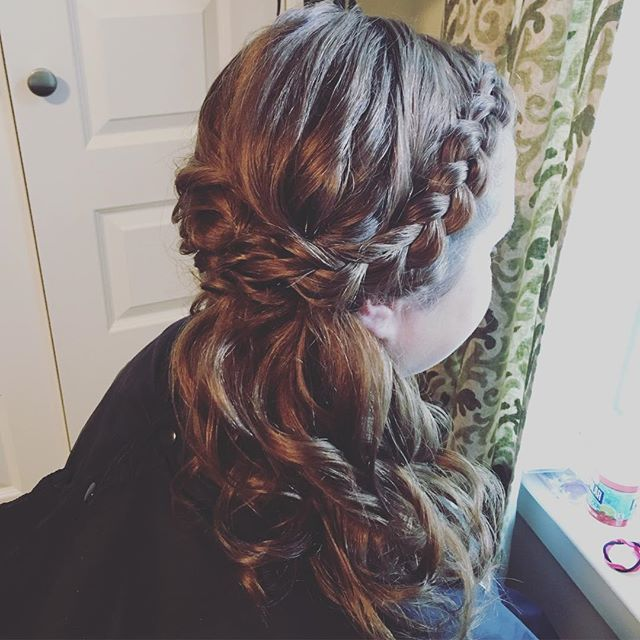Braids for this beautiful bridesmaid! Hair by Kiara