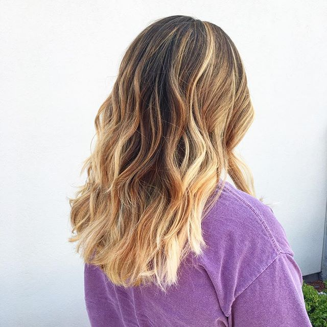 The Beautiful Balayage Collection by_ Kiara 💁🏼Colored with Goldwell, styled with KMS Califiornia &