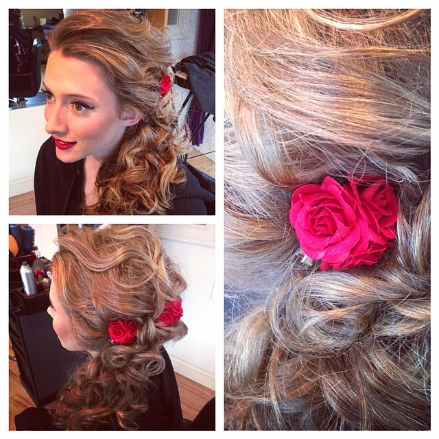 Instagram - Updo & makeup for miss @kay_caulfield 😘 #prom #prom2014 #updo #btcp