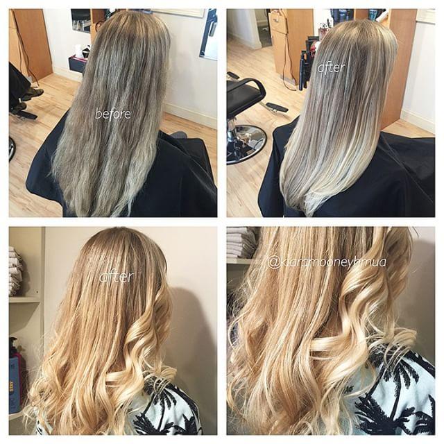 Instagram - Balayage on Drea 😘 #hairbykiara #kiaramooneyhmua #goldwell #color
