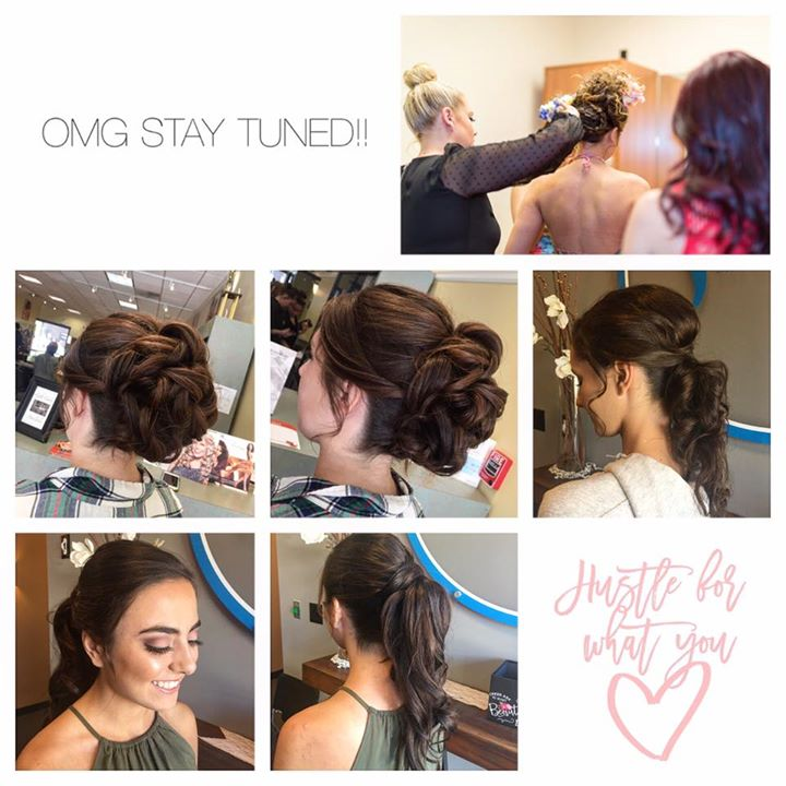 We are loving prom season at the studio! Hair by Kiara 💁🏼 & Krista 💁🏻 makeup by Kiara