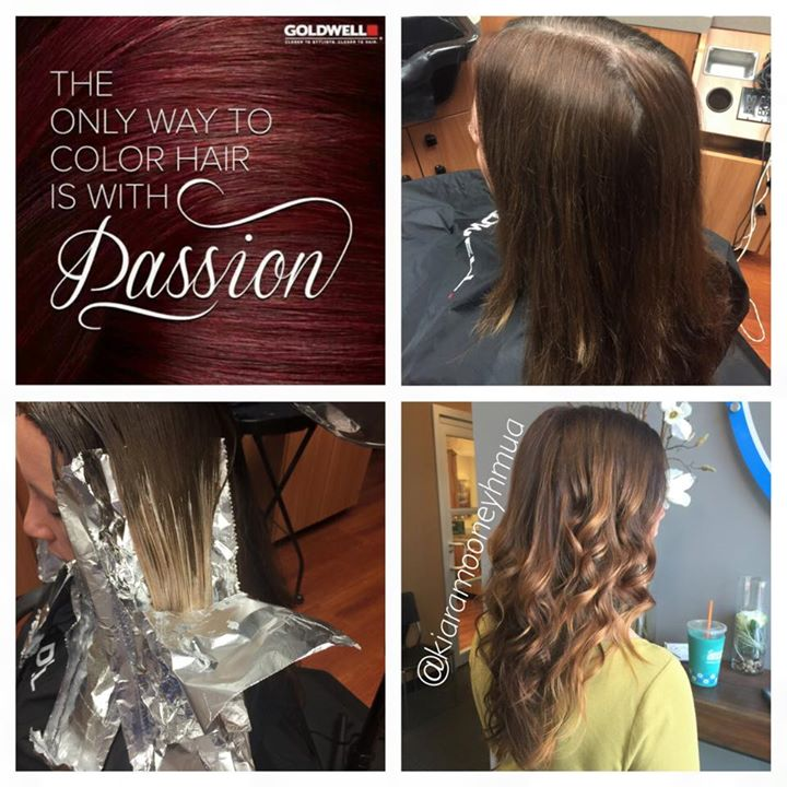 Facebook - Today's transformation with Goldwell's KK Mix & some hand painted hig