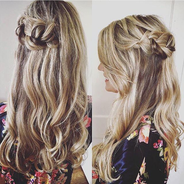 Bridesmaid hair by Krista! 💁🏻 This gurl can curl like no-otha 😎 #updo #kiaramooneyhmua #solasalon