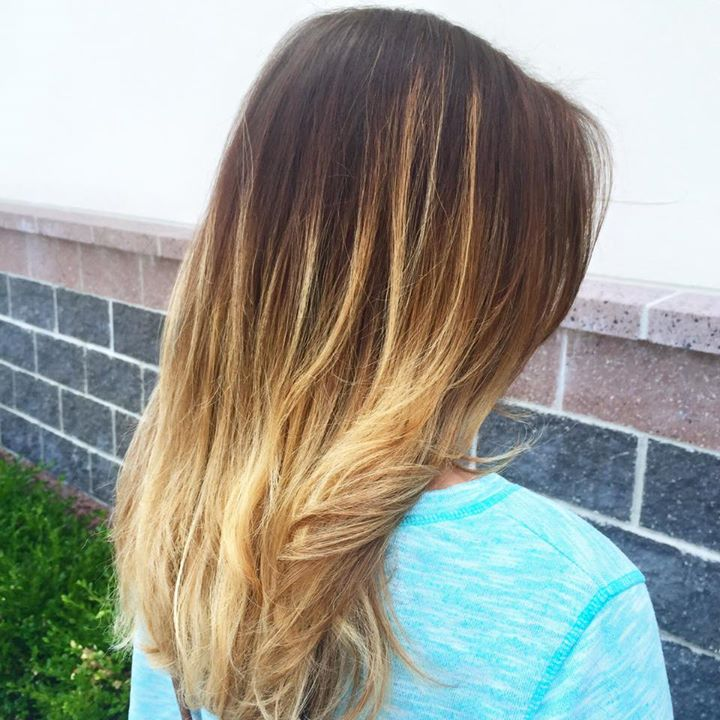 Facebook - Ombre for this lovely lady!  Summertime hair is here 👯