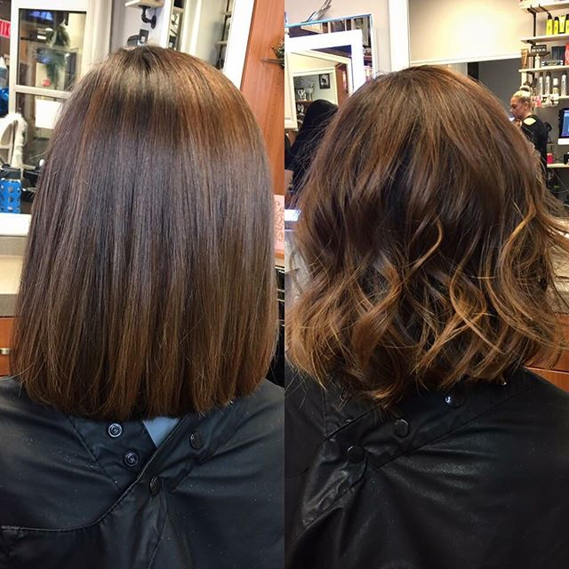 Before & after on Sara today!  Color & cut by Krista 💁🏻 _olaplex, used always in each step