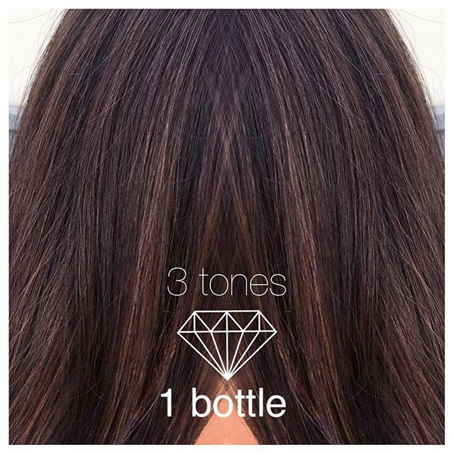 3 tones, 1 bottle 💎 Beautiful transition from highlights to a multidimensional brunette 💁🏻#iamgol