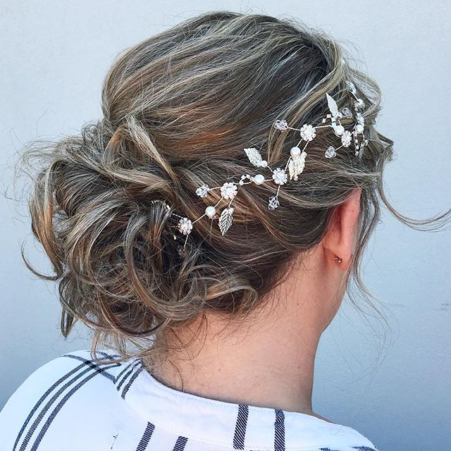 Bridal updo by_ Kiara!  Wedding season in full effect!  #wedding #updo #bridalhair #blonde #hair #km