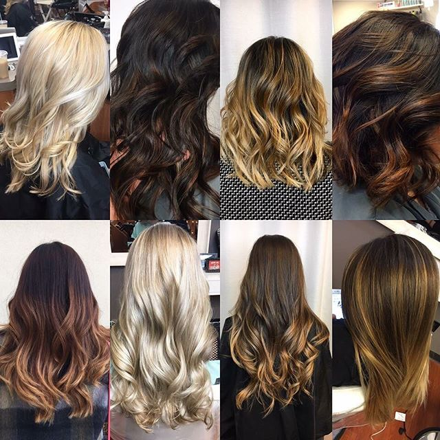 Caramel, ultra blonde, ruby red & ice ice blonde . .