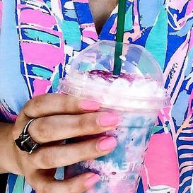 Starbuck's unicorn frappuccino. What was