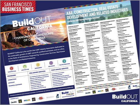 BuildOUT California key partner of 2020 San Francisco Business Times Business of Pride Issue
