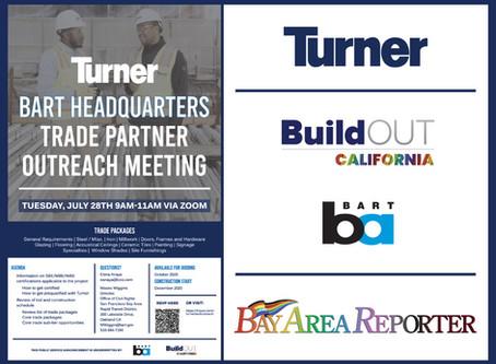 BuildOUT California co-underwrites BART's HQ Tenant Improvement Contract Opportunities Announcement