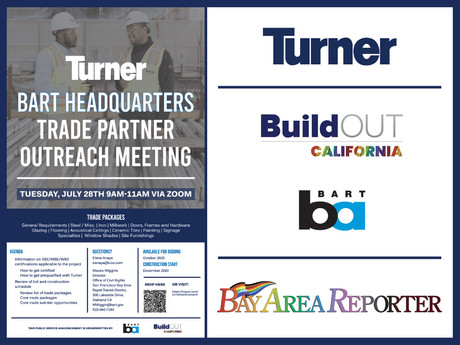 BuildOUT California co-underwrites BART's HQ Tenant Improvement Contract Opportunities Announcement