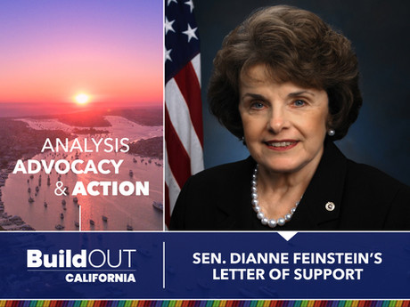 Senator Dianne Feinstein's Support of our 1.5% LGBT utilization goal