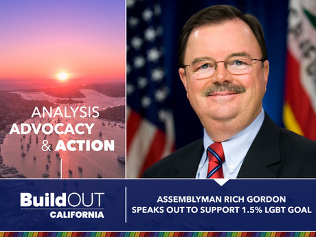 Assemblyman Rich GordonSpeaks Out to support 1.5% LGBT Goal