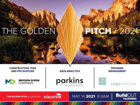 Join BuildOUT California for the Golden Pitch on May 14 at 8am!