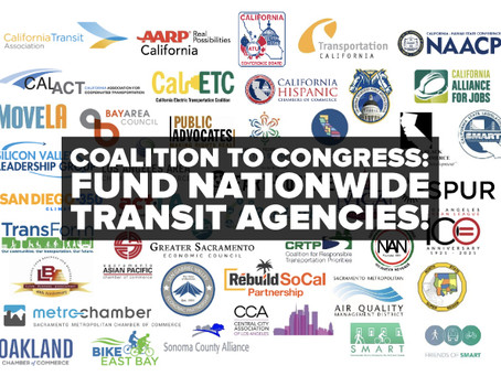 Coalition Urges Congress to Urgently Fund Nationwide Transit Agencies