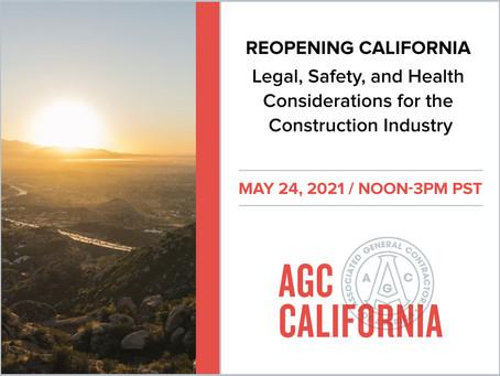 AGC of California WEBINAR: Reopening California