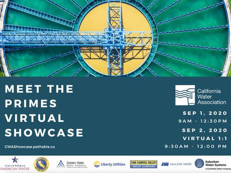California Water Association's  Meet the Primes Virtual Showcase - Register Today!