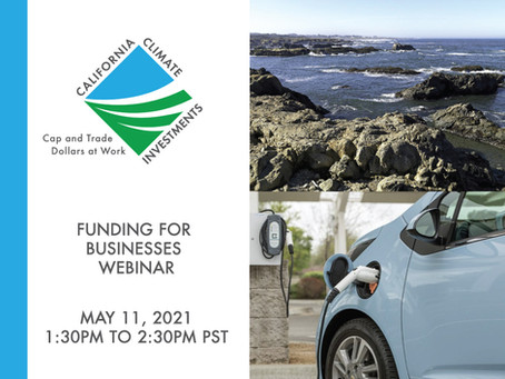 California Climate Investment Webinar:Funding for Businesses