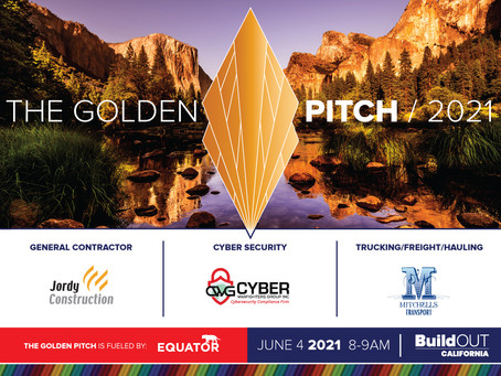 Join BuildOUT California for the Golden Pitch on June 4 at 8am!