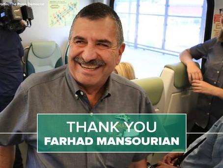 Thank you, Farhad Mansourian