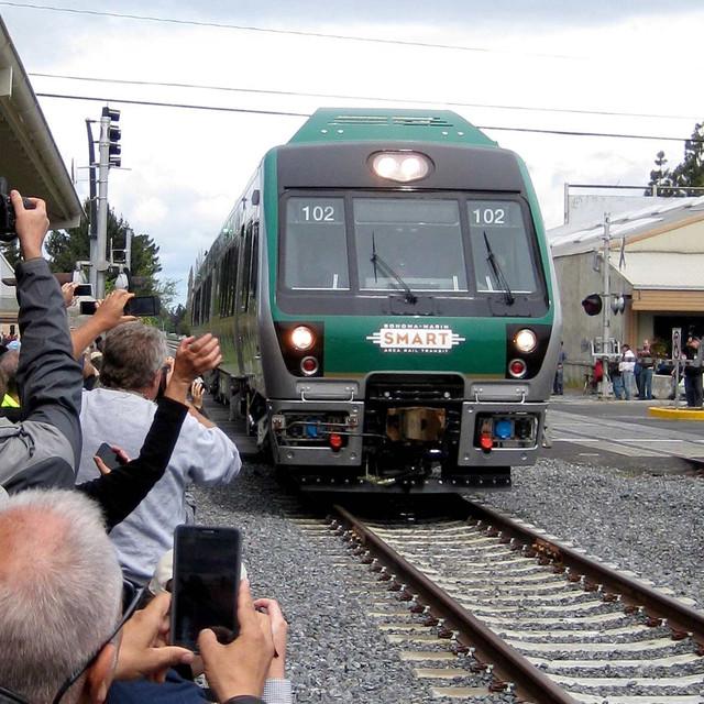 The SMART train makes its debut in Cotati