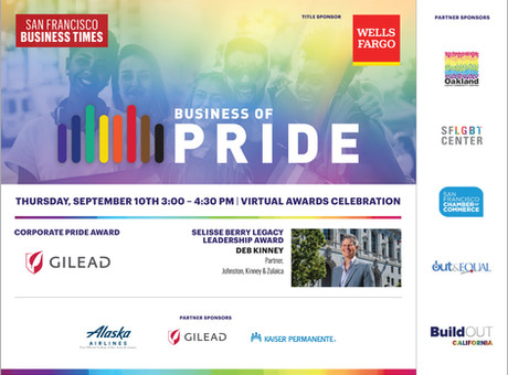 SF Business Times Publisher Mary Huss to Honor LGBTQ Business Leaders!