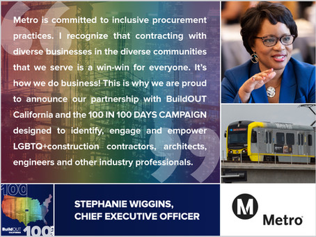 LA Metro joins our 100 in 100 Days Campaign