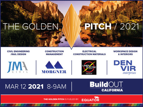 Join BuildOUT California at The Golden Pitch for March 2021!
