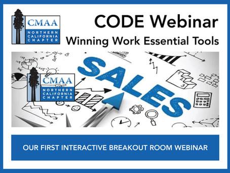 CODE Webinar - Winning Work Essential Tools