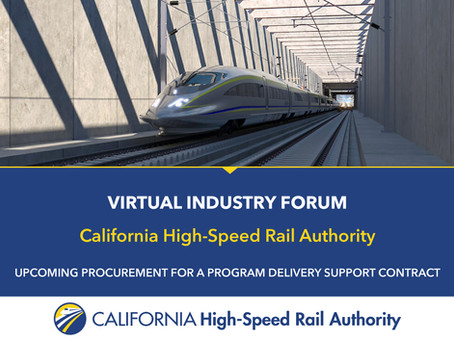 California High-Speed Rail Program Delivery Support Contract - Virtual Industry Forum
