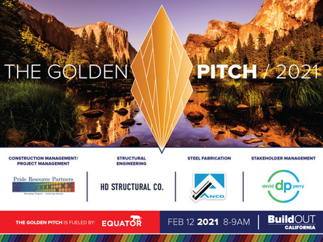 Join BuildOUT California at The Golden Pitch for February 2021!