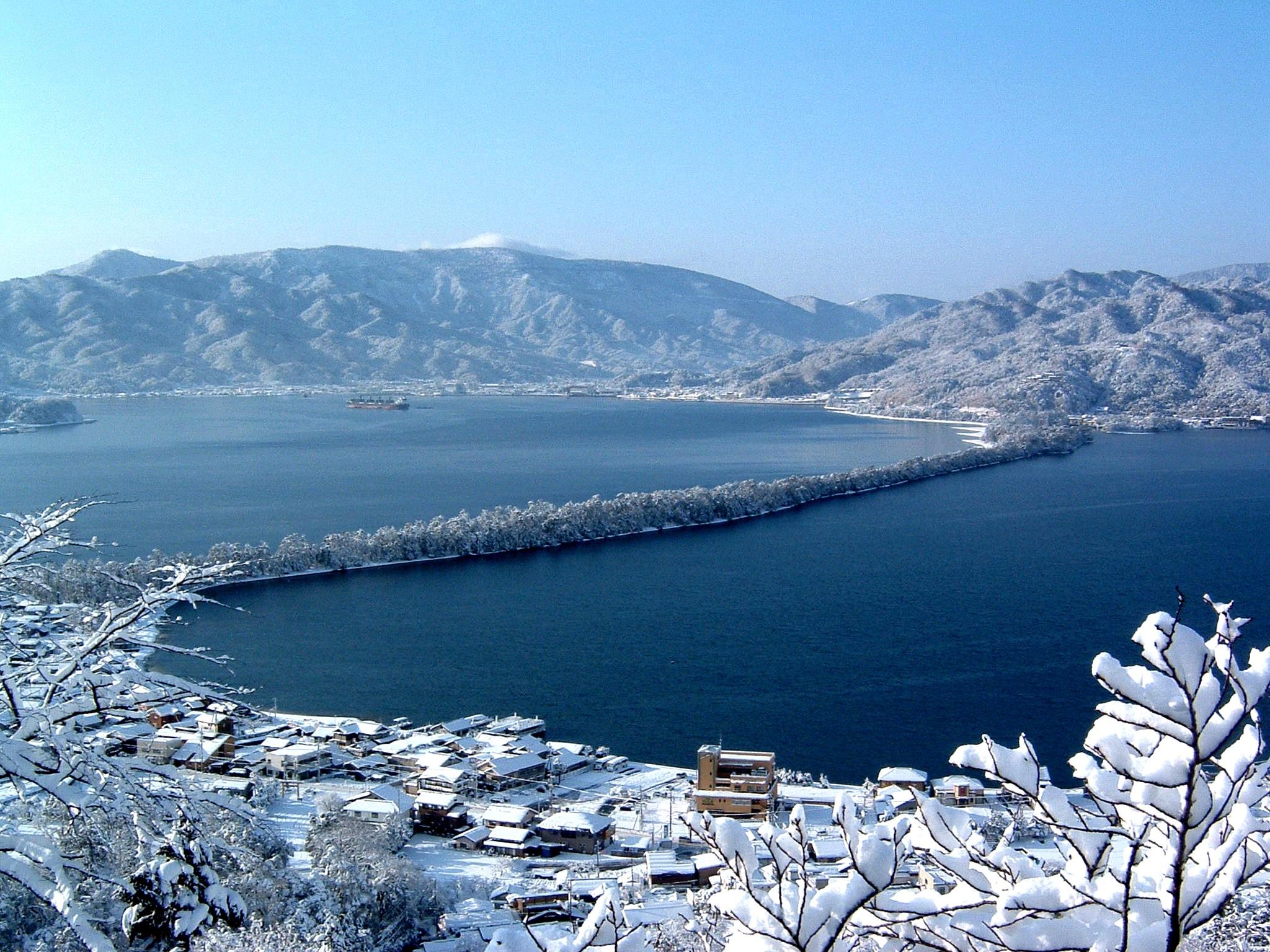 天橋立(傘松公園・雪②)
