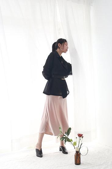 /最後數量/絲光魚尾裙-香檳/黑
